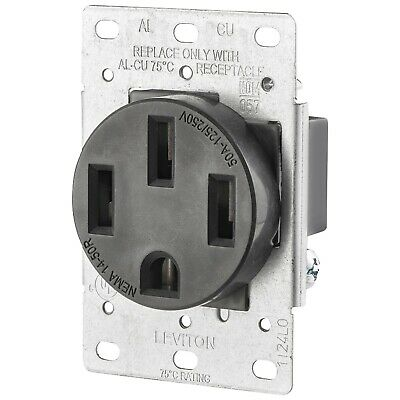 LEVITON(R) 279-S00 Single-Flush Range Receptacle - Free ship
