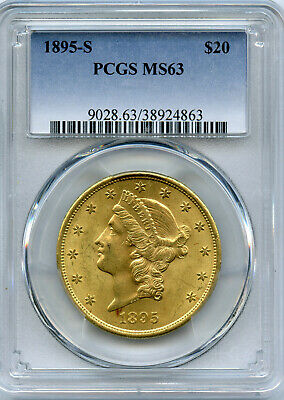 1895-S  $20 Gold Liberty Head Double Eagle PCGS MS 63