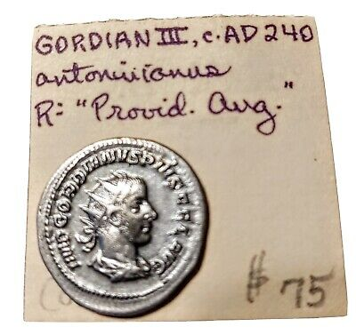 Ancient Roman-Jordan AD 240 Gordian 3 Antoniusanus coin Great Condition