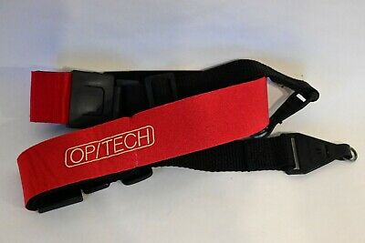 Vintage OP/TECH USA RED Neoprene Camera Neck Shoulder Strap