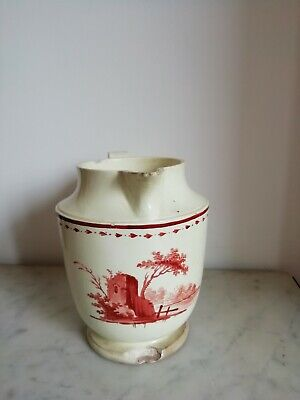 Faience Fine De Forges-Les-Eaux/ Wood / Tres Rare  Pot A Lait/Debut 19 Eme.