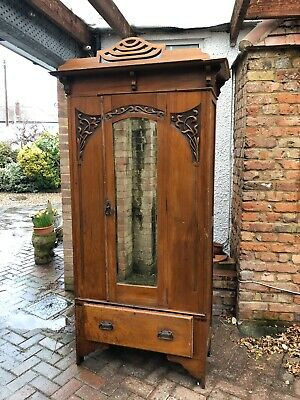 Antique Art Nouveau Wardrobe