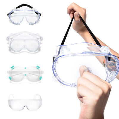 Safety Goggles Eye Protection Anti Fog Protective Transparent Glasses Lab Work