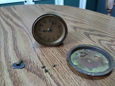 Antique The Lux Company Co. Waterbury Connecticut Clock Movement Dial Cover Etc.