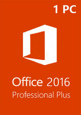 Microsoft Office 2016 Professional Plus 1PC Full Retail Version