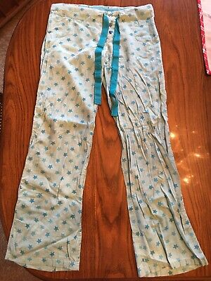 Women's Girl's Small Tarea By RUE 21 Sleepwear Pants Pajamas Blue Stars Bottoms