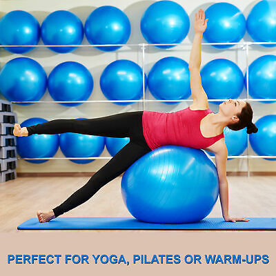 New Swiss Yoga Ball Pilates Fitness Home Gym Exercise With Foot Pump 65 75 85cm