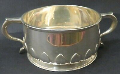 English Sterling Silver Twin Handled Bowl Sheffield C1900 8.3 Ounces (235 G)