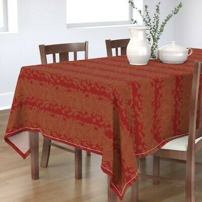 Tablecloth Art Deco Japanese Chinese Asian Oriental Cotton Sateen