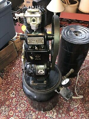 Antique Ritter Dental Mfg Co Air Compressor Model A & Motor Early 1900's