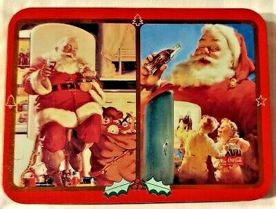 Coca Cola Playing Cards in Tin With Santa Claus