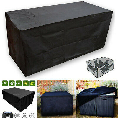 Extra Large Garden Outdoor Furniture Cover Patio Rattan Table Protection Black