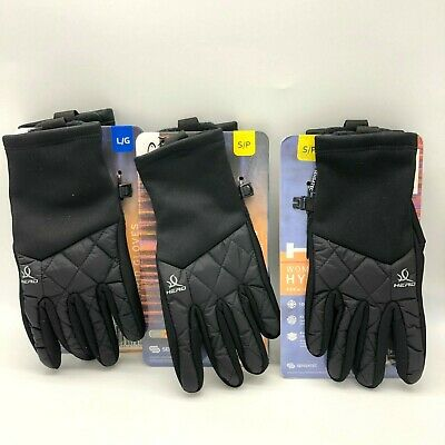 Head Womens Black Hybrid Sensatec Touchscreen Running Gloves Brand New