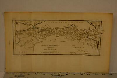 Antique Engraving Map of Ancient Greece Corinthia Printed 1795 15x8 Inches