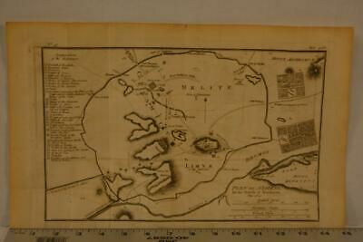 Antique Engraving Map of Ancient Athens Greece Printed 1795 15x8 Inches
