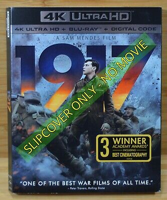 1917 Sam Mendes Film Blu-ray 4K Slipcover (COVER ONLY-NO MOVIE DISC)