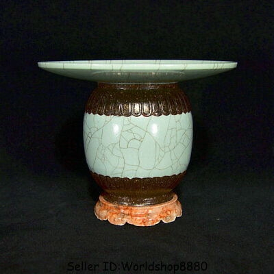 """5.8"""" Marked China Film opening porcelain Dynasty Flower an ancient wine vessel"""
