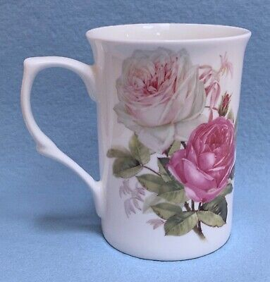 New Stechcol Fine Bone China Mug Country Rose Bouquet Collection Rare Cup 10 Oz