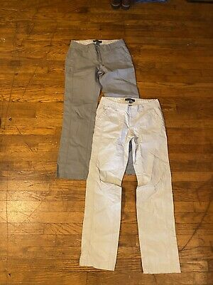 Eddie Bauer  Pants Two Pairs Women's Size 4 Lot Of 2 Khaki