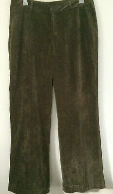 Coldwater Creek Crushed Velvet Pant Women's Size 16 Stretch Color Brown Boot Cut