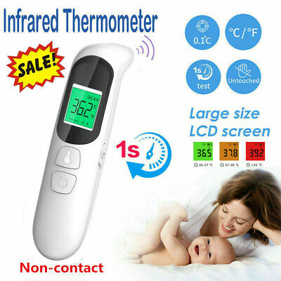 LCD Digital Non-Contact Infrared Forehead Thermometer Baby Adult Ear Temperature