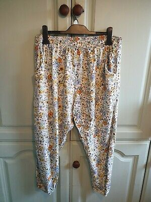 Ladies size 16 summer trousers elasticated waist
