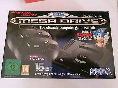 OFFICIAL SEGA Mega Drive Mini - CLASSIC CONSOLE with extra games and artwork