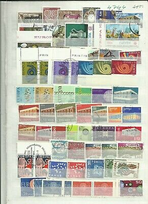 Europe 1970s Europa stamps used unsorted lot 42