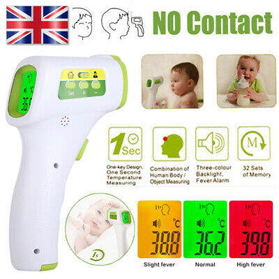 Digital LCD Infrared Thermometer Forehead Non-touch Baby / Adult Temperature Gun