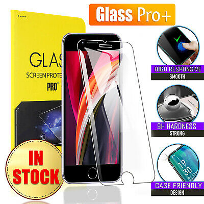 2X For Apple iPhone XR X XS Max 7 8 Plus 11 Pro Tempered Glass Screen Protector