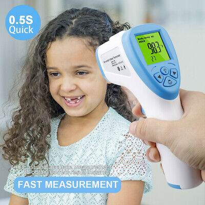 Digital No Touch Thermometer IR Infrared Forehead Temperature Gun For Adult Baby
