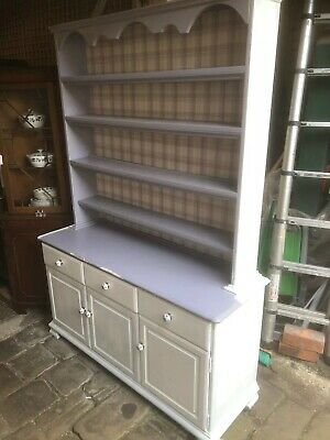 Shabby Chic Project - Painted Solid Pine Kitchen Dresser Sideboard Cupboard