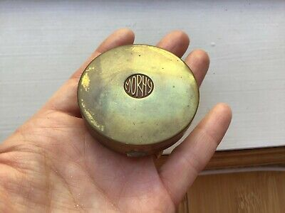 Vintage Morhy Brass Compact Power Case June Roses Made in England SMALL