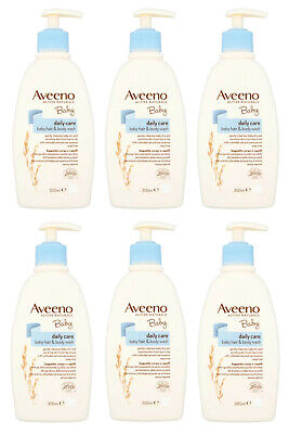 Aveeno Baby Daily Care Hair and Body Wash 300ml Pack of 6 (1800ml)