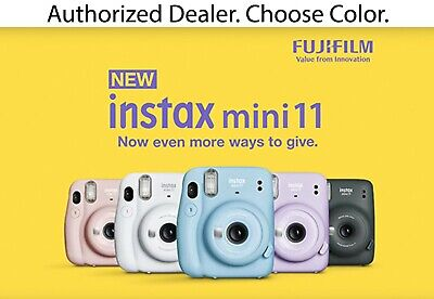 NEW! Fujifilm Instax Mini 11 Instant Print Film Camera - Choose Color