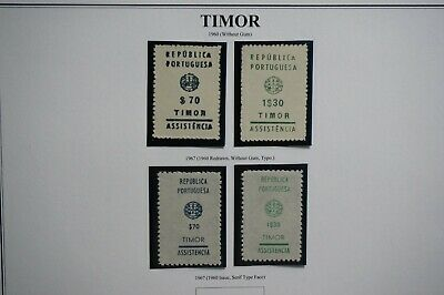 Portugal Portuguese Timor 1960/ 1969 Postage Due Nice Stamps (Mnh)