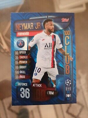 Match Attax EXTRA 2019/20 19/20 CLU11 Neymar Jr (Paris St-Germain) 100 CLUB