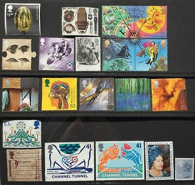 GB stamps for collection; unfranked, fine used, no gum. Face value £10.77