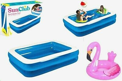 Large Family Size Inflatable Swimming Pool Summer Outdoor Kids Paddling Pools