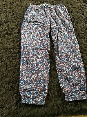 Girls floral trousers age 8-9 years