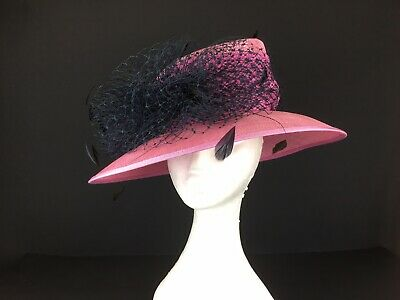 Cappelli Condici Pink With Navy Trim Hat  (92)