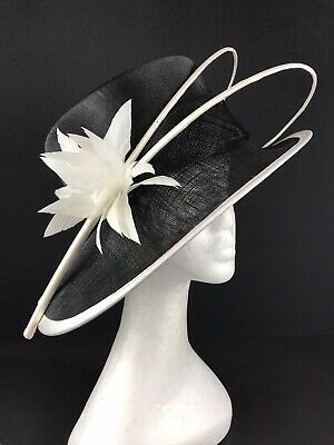 John Lewis Black & White Hat Wedding Races Special Occasion. (355)