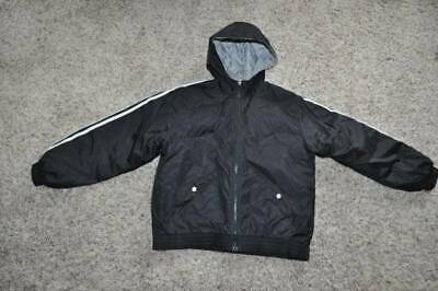 GUC-Girls Adidas Black Hooded Spring Fall Winter Quilted Lined Jacket-size L 14