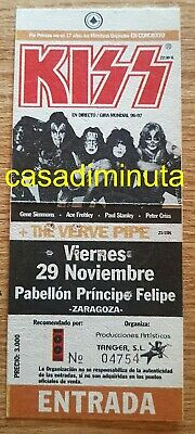 KISS entrada ticket Live in Zaragoza 1997 UNUSED SIN USAR MINT spain