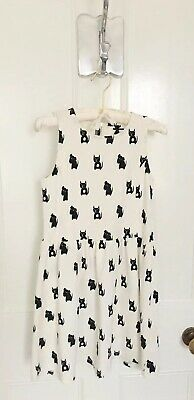 Girls Next Motif Textured Dress In Off White/Black Age 10 Brand New LAST ONE