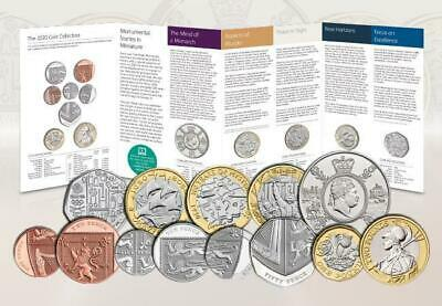 Royal Mint 2020 13 Coin Annual Set Brilliant Uncirculated BUNC *GB Olympic 50p*