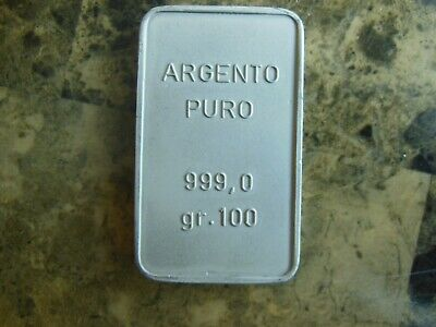 Silver bar pure 100 grams