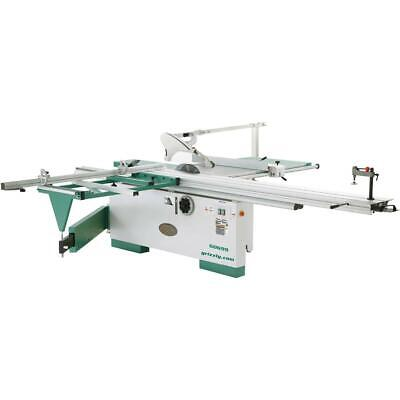 "Grizzly G0699 12"" 7-1/2 HP 3-Phase Sliding Table Saw with Scoring Blade Motor"