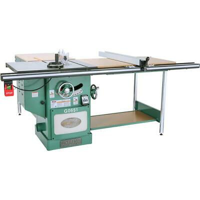 "Grizzly G0651 10"" 3 HP 220V Heavy Duty Cabinet Table Saw with Riving Knife"