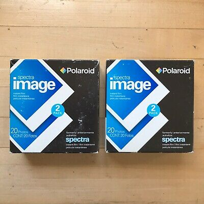 Lot of (2) Polaroid Spectra Image Film 2-Packs **40 Photos Total** Expired 2007